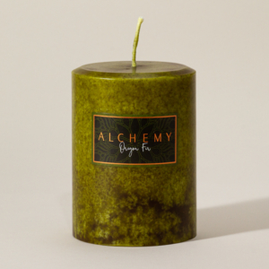 Oregon Fir Candles from the Alchemy Candles 2020 Fall candle collection. Photo by Chris Korsak